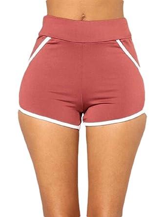 BingSai Pantalones Cortos de Yoga para Mujer: Amazon.es ...