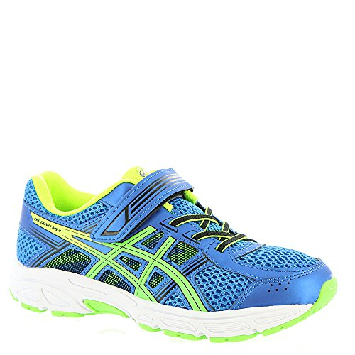 Price comparison product image ASICS Unisex-Kids Pre-Contend 4 PS Running Shoe, Directoire Blue/Green/Safety Yellow, K11 Medium US Little Kid