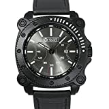 Army Watch [Military Royale] Black Sport Strap for Men Quartz Leather Date Display Luminous ,Band 24mm, Jungle Series