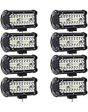 8Pcs 240W LED Light Bar LED Pods 7 Inch LED Work Light Off Road Spot Flood Combo Light 32000LM Waterproof for Jeep Truck Tractor Trailer Boat Pickup Car UTV ATV(8Pack-240W Combo Light)