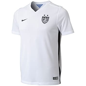 more photos d2bab eb8a4 Nike USA Youth Short Sleeve Home Stadium Jersey (Football White/Black/Black)