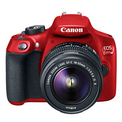 Canon EOS Rebel T6 Digital SLR Camera Kit with EF-S 18-55mm f/3.5-5.6 is II Lens (Limited Edition Red)