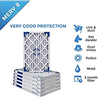 18x25x2 MERV 8 AC Furnace 2 Inch Air Filters - 12 PACK