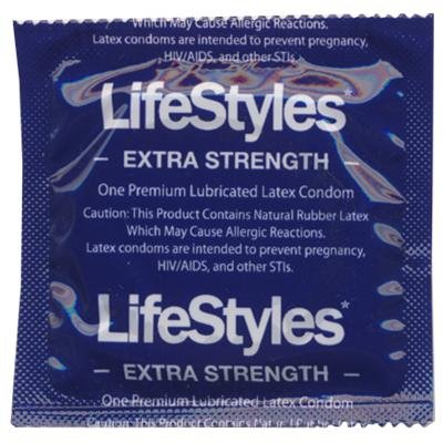 Extra Safe Condoms - Lifestyles Extra Strength Condoms 144 Pack