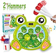 SOMAN Whack A Frog Game Toddler Toys for 3 Year Old Boys, Early Learning Durable Pounding Toy Helps Fine Motor