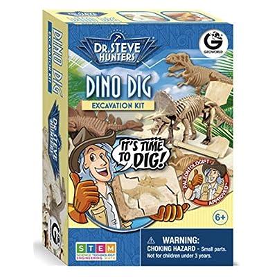Geoworld Dr. Steve Hunters Dino Dig Excavation Kit: Toys & Games