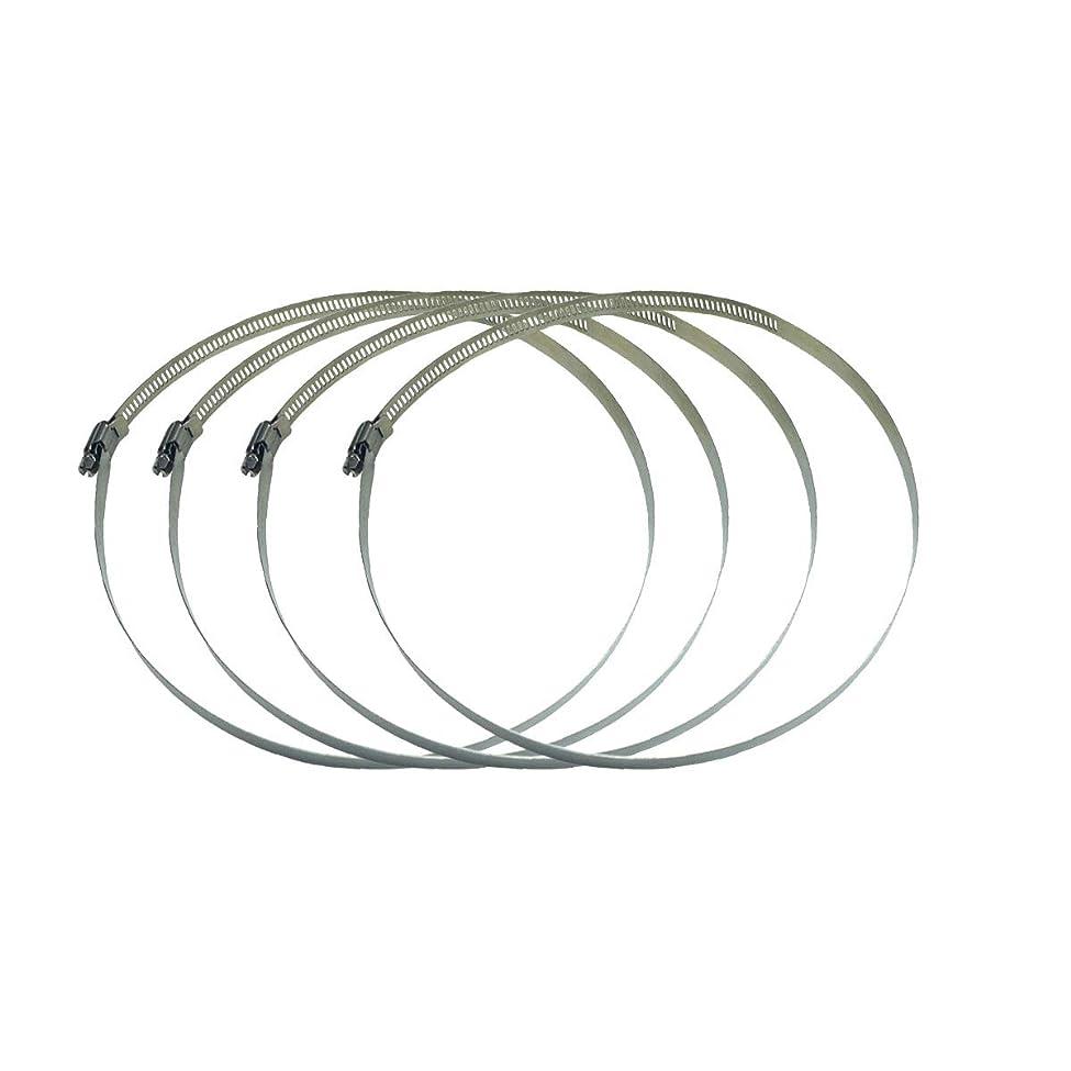 スマッシュプレビスサイト苦しめるステンレス鋼 調整可能 ホースクランプ ホースバンド パイプクランプ 2個入 (直径Φ232~254mm)