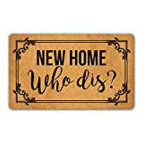 DoubleJun Funny Doormat New Home Who Dis Welcome