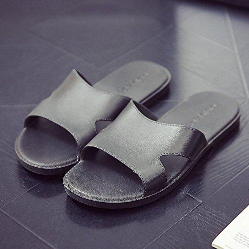 Fondo Baño Zapatillas Blando Masculinas Mujeres Interior Verano Parejas de de 41 Zapatillas Antideslizante Macho Negro Home Ducha fankou Fresco Suelo Verano Zapatillas FxzwZn7pq