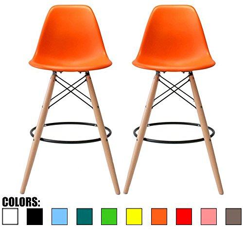 2xhome - Set of Two (2) - Orange - 28