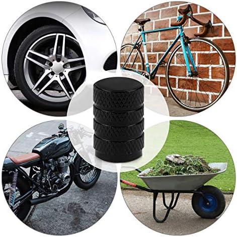 Kwmobile 5x Auto Ventilkappen Abdeckung Autoventil Schraderventil Metall Kappen Pkw Fahrrad Motorrad Ventildeckel In Schwarz Auto