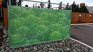 ALEKO 7x5 Dog Kennel Wind Snow Sun Screen Fabric Green Grass Print