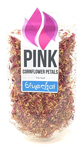 Pink Cornflower Petals - Premium Organic Quality - Perfect for Beverages, Cakes and Culinary Delights, Grade A