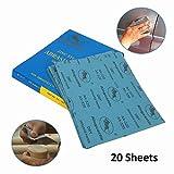 20 Sheets 1000 Grit Abrasive Sanding Paper Dry Sandpaper Sheets for Car Repair, Body Paint, Wall Sanding, Wood Work 9'' x 11''