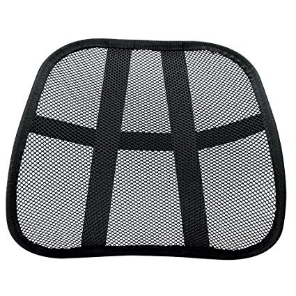 Omni Extra Comfortable Adjustable Breathable Cool Black Mesh Lumbar Back Support Fit All Types Office Chair Car Seat Cool Mesh Back Support