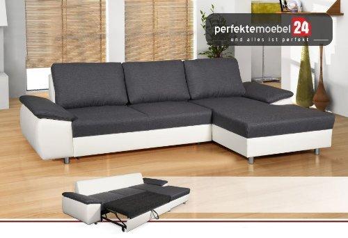Couch mit Schlaffunktion und Bettkasten Eckcouch Sofa Polster Ecke Wohnlandschaft MESSINA (nebrasca)