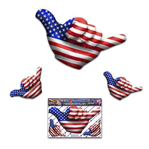 Small American USA Flag Hangloose Funny Car Stickers Decals ST00055/_SML JAS Stickers