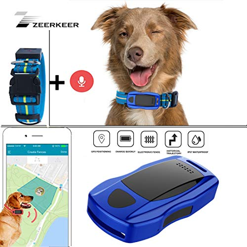 ZEERKEER Pet GPS Tracker, Dog GPS Tracking and pet Finder, The GPS Dog Collar Attachment, Locator Waterproof, Tracking Device for Dogs, Cats, Pets Activity Monitor from ZEERKEER