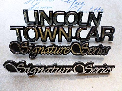 Series Signature Lincoln (95-98 Lincoln Town Car Signature Series Side Fender F7VB-16B114-BB Ornament Trunk Logo Emblem Set of 4 Decals)