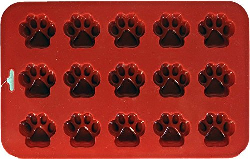 K9 Cakery Mini Paw Silicone Cake Pan, 9 by 5.5-Inch, 15-Cavity (6) by K9 Cakery (Image #1)'