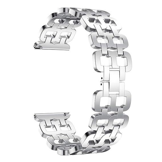 para Samsung Galaxy Watch 46mm Reloj Reemplazo de Banda Acero Inoxidable Accesorios Correa de Pulsera de Acero Inoxidable Delicada de Lujo: Amazon.es: ...