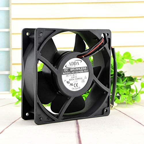 for ADDA AD1224UB-F51 12CM 24V 0.40A 12038 2-Wire Inverter Ball Cooling Fan