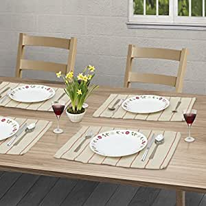 Placemats for kitchen dining table set of 4 for Decorative dining table accessories