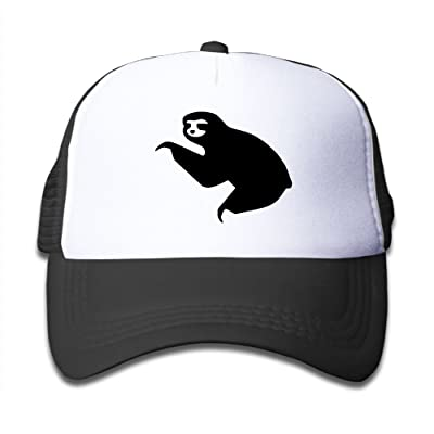 79d8d66a1a628 Adjustable Snapback Cute Animal Sloth Toddler Hats For Boys Girls Mesh Back  Trucker