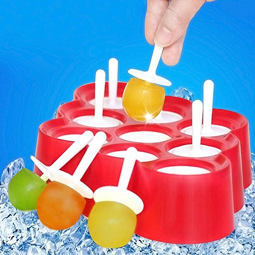 Silicone Mini Ice Pops Maker Popsicle Molds With 9 Stickers Diy Food Grade Perfect For Making Cream At Home Or - Shops Old Orchard At