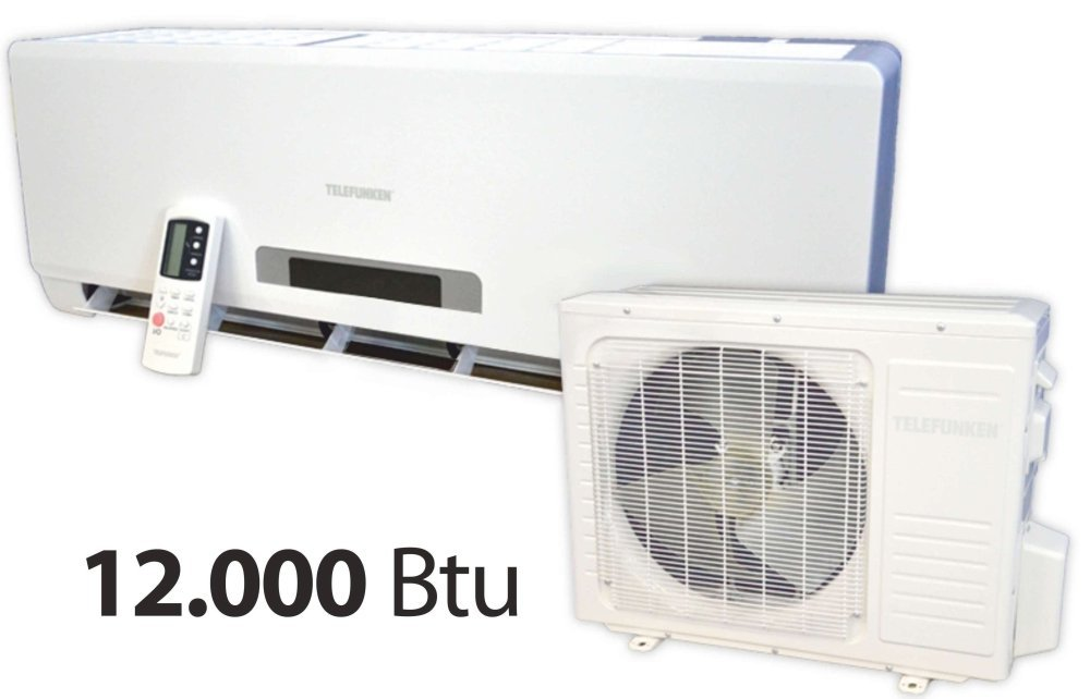 Telefunken acondicionador Serie Viva M03602-potencia nominal 12000 BTU, tecnología Inverter, temporizador de 24 horas, compresor Panasonic clase energética ...