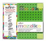 WAFF Mozaika Soft Silicone Cover Combo Personalized Notebook / Journal, Medium 5.75'' x 4'', Green