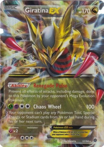 (Pokemon - Giratina-EX (57/98) - Ancient Origins - Holo)