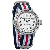 Vostok Amphibian Automatic Mens WristWatch Self-winding Military Diver Amphibia Case Wrist Watch #420813 (tricolor)