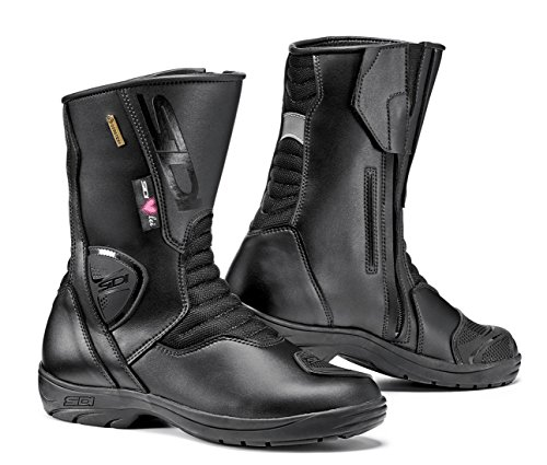 Sidi Touring Boot - Sidi Gavia Gore Tex Ladies Motorcycle Boots Black US8.5/EU41 (More Size Options)