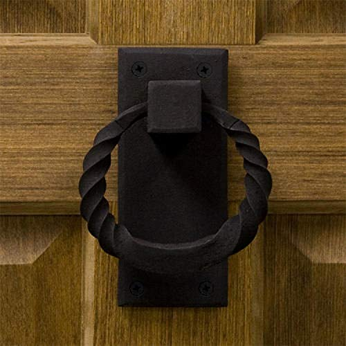 Casa Hardware Iron Twisted Ring Door Knocker in Black Finish by SIGHW (Image #2)