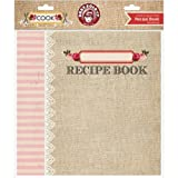 Ruby Rock-It Cook Recipe Book for Scarpbooking, 8 by 8-Inch