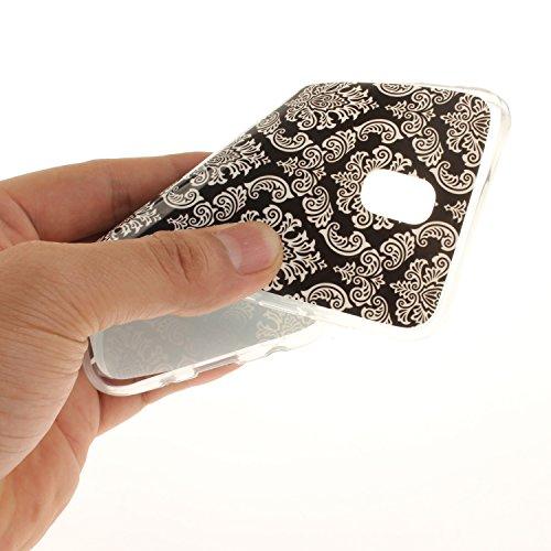 Slim Scratch J730 Téléphone Peint Cas Protection Motif Antichoc De Résistant Bord De 2017 J7 Fit Retro Cas Couverture Samsung Galaxy art Hozor Arrière TPU En Souple Transparent Silicone qT6wI1g