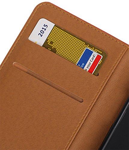 MobileFashion Pull-Up Book Cases pour Iphone 5 Portefeuille Case Cover Booktype avec Slots pour cartes et support