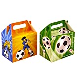 Henbrandt 20 Kids Party Lunch / Treat Boxes - Football Design