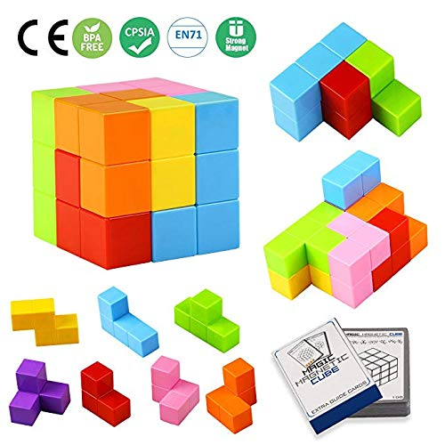 Magnetic Toys Magic Cubes Stress Relief for Adults Magnet Blocks for Kids Magnetic Building Blocks Bricks Toy Educational Puzzles by Bicycle (Image #7)