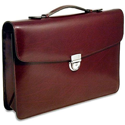 Jack Georges Elements Slim Briefcase (BURGUNDY) 4501 Jack Georges Slim Briefcase