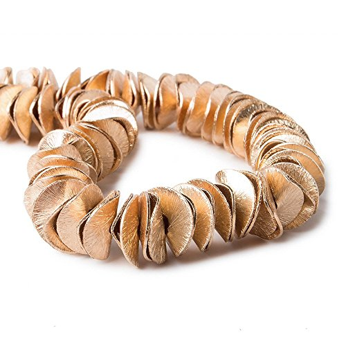 (10mm Rose Gold Plated Copper Brushed Wavy Disc 8 inch 126 pcs)