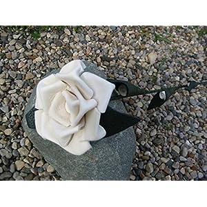 Leather Rose – White – Third Anniversary Valentines Day Birthday Gift