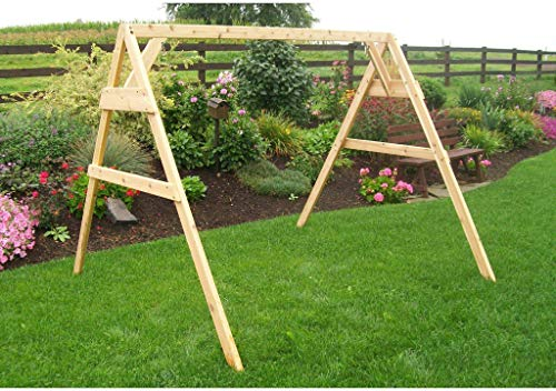 (A & L Furniture Co. Western Red Cedar 6' A-Frame Swing Stand for Swing or Swingbed (Hangers Included) - Ships Free in 5-7 Business Days)