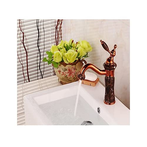best W&P Centerset bathroom sink faucets single hole rose gold