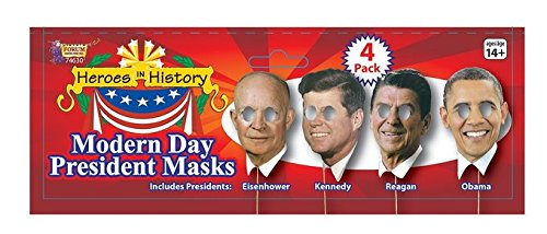 Forum Women's Photo Booth Kit Modern Day Presidents, Multi, One (Halloween Mask Sales Obama)