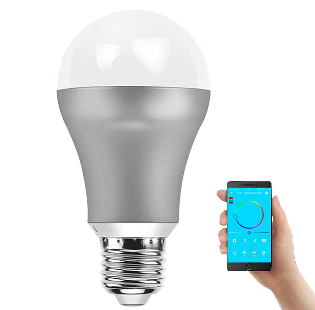 MEIYANG WiFi Smart LED Birne E27 Home 7W Energiesparende Familie Schlafzimmer Wohnzimmer,A