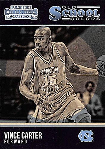 Vince Carter Basketball Card (North Carolina, College Legend) 2015 Panini Contenders Draft Picks Old School #42