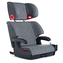 Clek Oobr Booster Seat, Premium Edition, Thunder (Black Base)