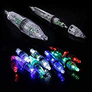 12/17cm Waterproof LED Deep Drop Fishing Underwater Fish Lure Light for Attracting Bait and Fish -1pcs